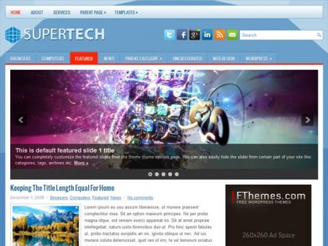 دانلود قالب فوق العاده زیبای SuperTech برای وردپرس