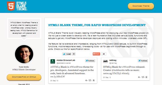 پوسته وردپرس سفید HTML5 برای طراحی سایت