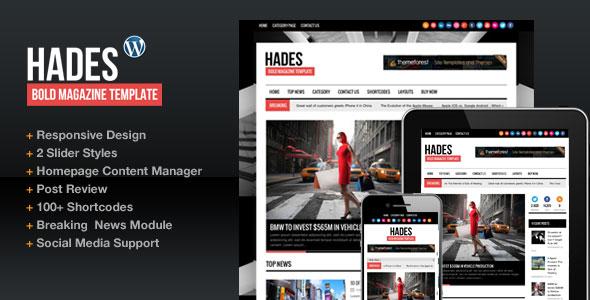 دانلود قالب مجله hades فارسی برای وردپرس
