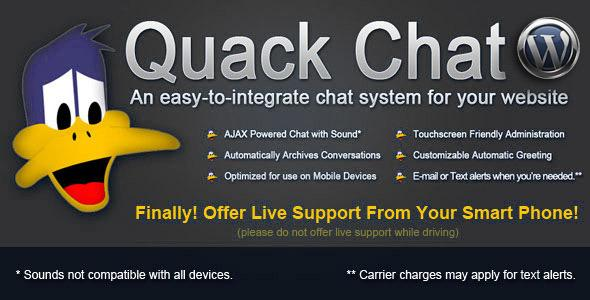 دانلود پلاگین چت آنلاین وردپرس Quack Chat