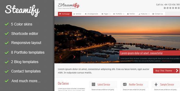 دانلود قالب زیبای Steamify فارسی برای وردپرس
