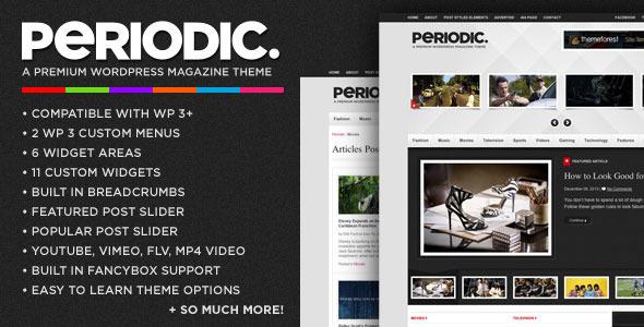 دانلود قالب زیبای مجله برای وردپرس با نام Periodic