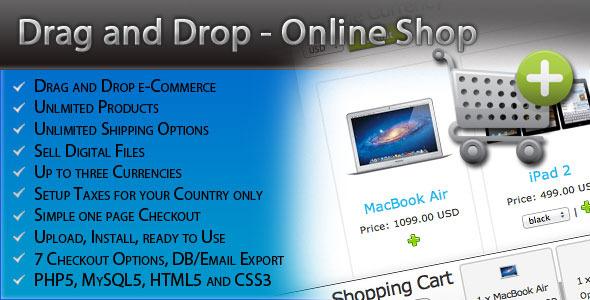 دانلود اسکریپت فروشگاه drag & drop(کشیدن و رها کردن)