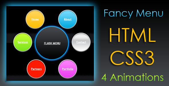دانلود سورس منوی متحرک به صورت HTML + CSS3