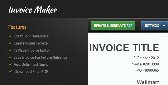 دانلود اسکریپت مدیریت و ایجاد فاکتور Visual Invoice Maker