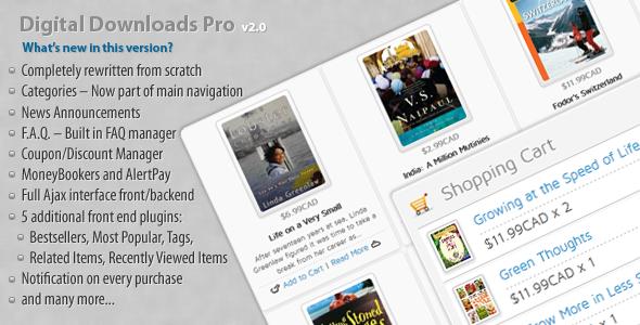دانلود اسکریپت Digital Downloads Pro برای دانلود به ازای پرداخت