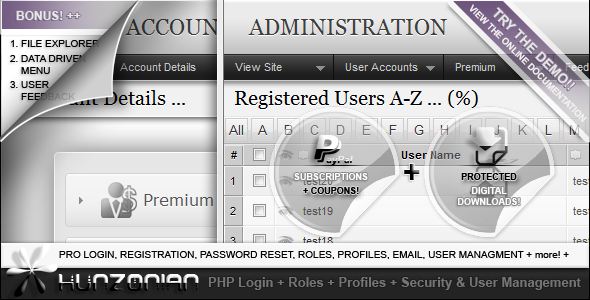 دانلود سورس ساخت ناحیه کابران امن PHP Security