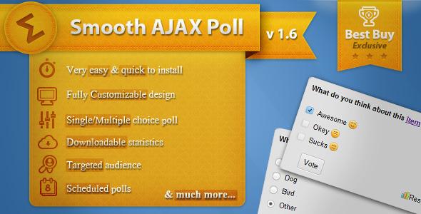دانلود اسکریپت نظر سنجی ایجکس Smooth Ajax Poll