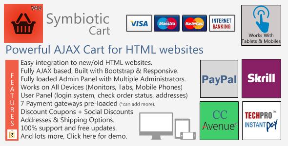 دانلود سورس سبد خرید ایجکس برای سایت های HTML
