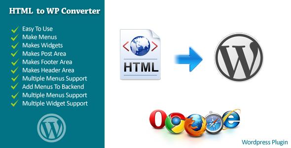 دانلود افزونه تبدیل قالب HTML به قالب وردپرس