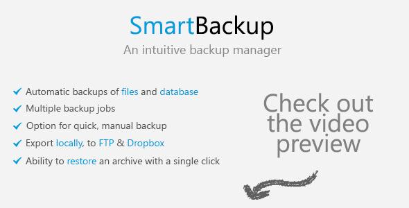 دانلود اسکریپت مدیریت بک آپ SmartBackup