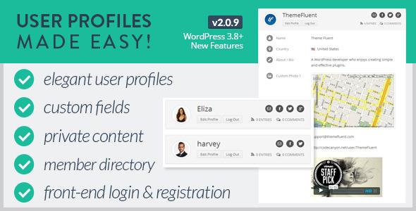 دانلود افزونه ساخت پروفایل برای کاربران وردپرس