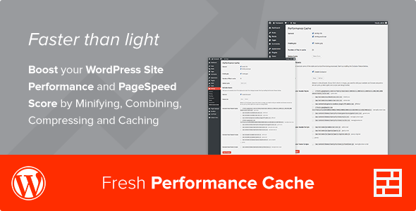افزایش سرعت وردپرس با افزونه Fresh Performance Cache