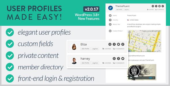 دانلود افزونه ساخت پروفایل کاربری برای وردپرس