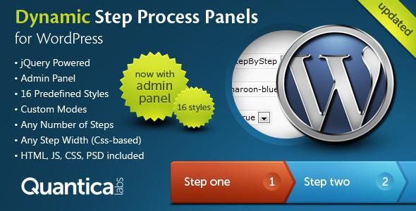 دانلود افزونه Dynamic Step Process Panels برای وردپرس